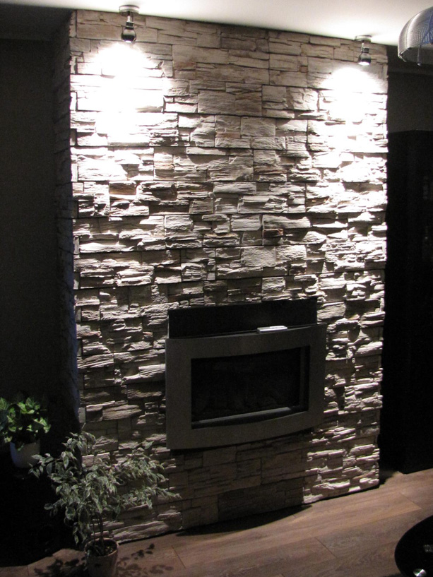 Slate stack stone cladding